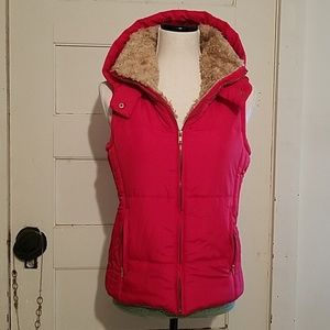 Love Tree Puffer Vest With Hood